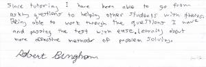 Robert Bingham's All Studies Academic Testimonial